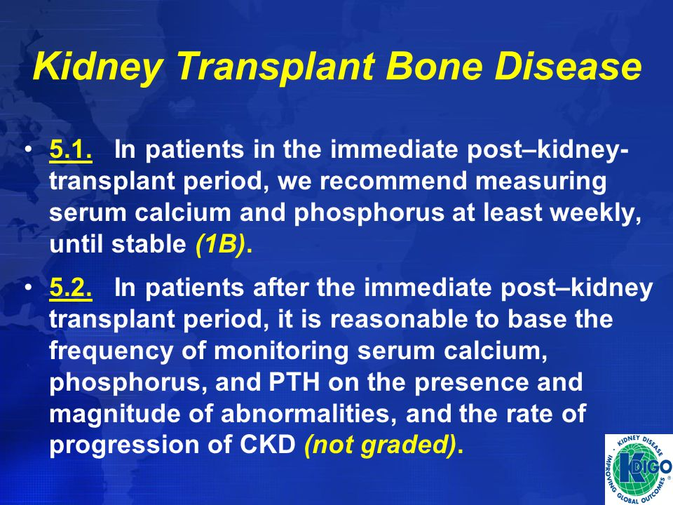 Kidney Transplant Bone Disease