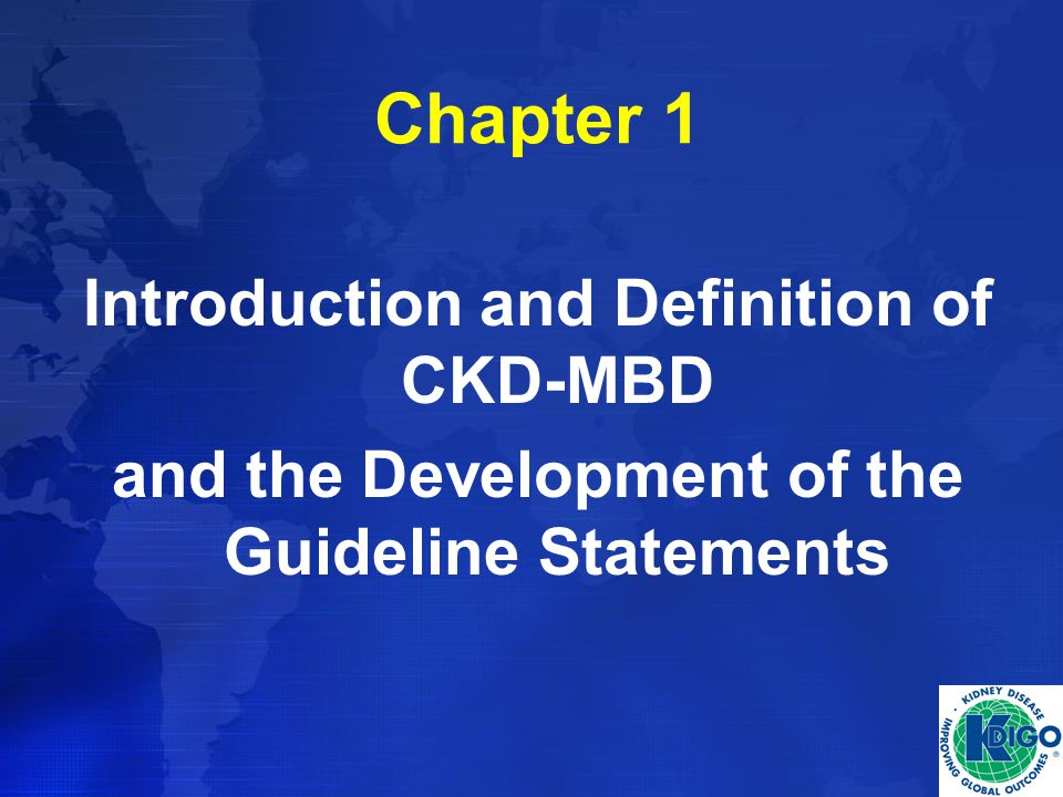Chapter 1 Introduction and Definition of CKD-MBD