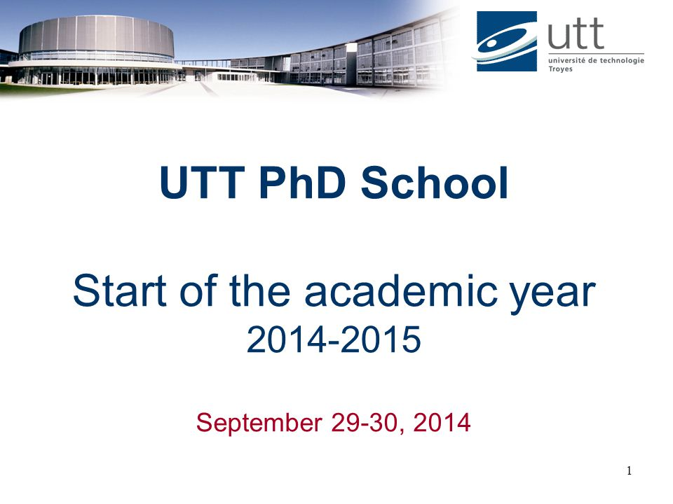 Start of the academic year