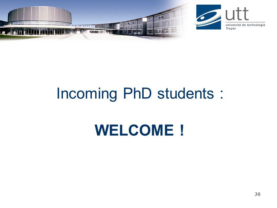 Incoming PhD students :