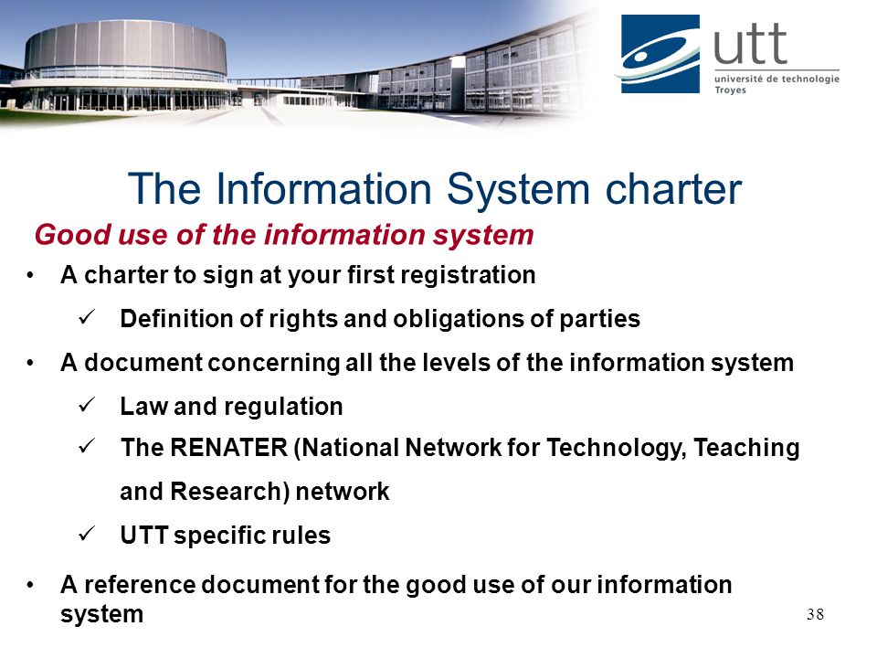 The Information System charter