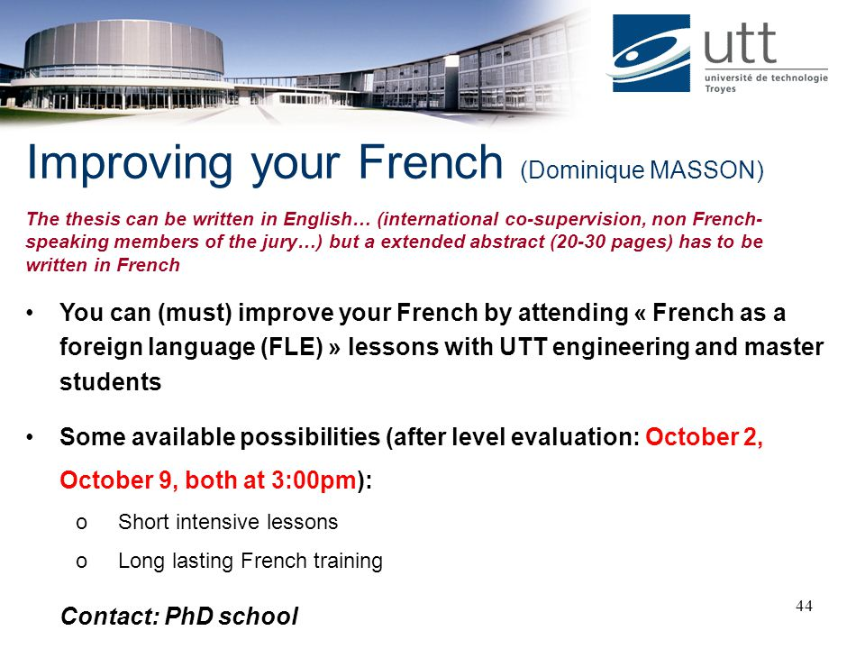 Improving your French (Dominique MASSON)