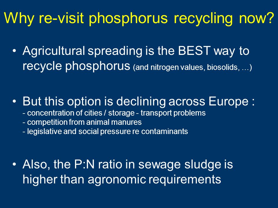 Why re-visit phosphorus recycling now