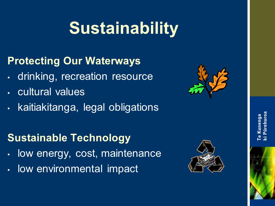 Sustainability Protecting Our Waterways drinking, recreation resource