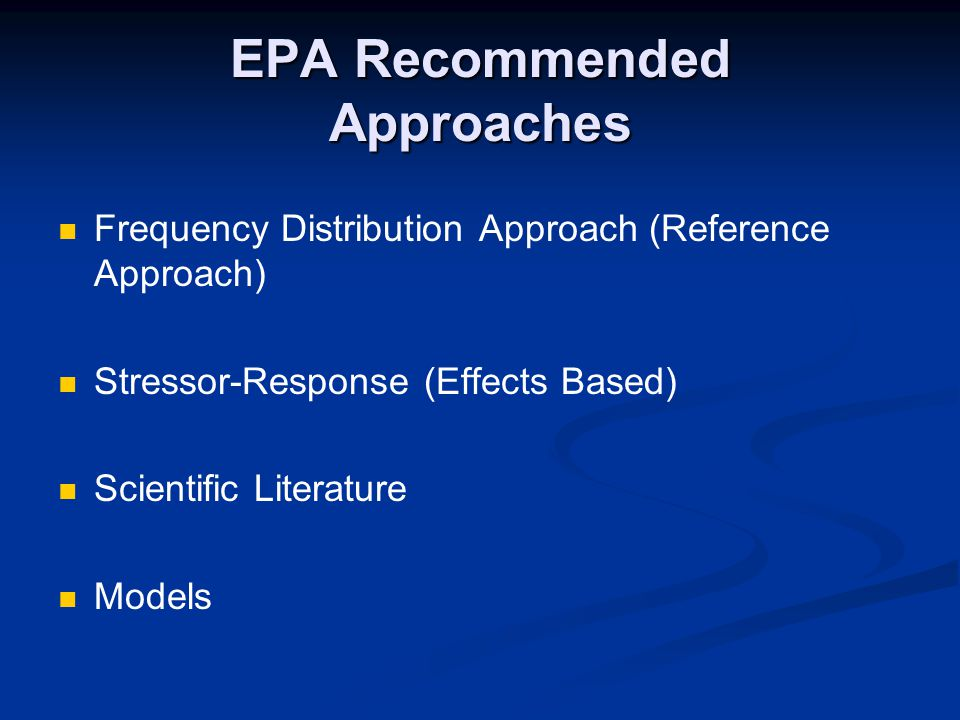 EPA Recommended Approaches