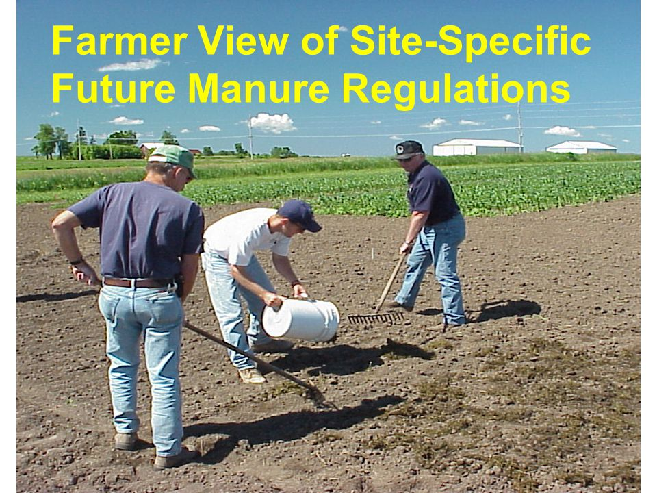 Farmer View of Site-Specific Future Manure Regulations