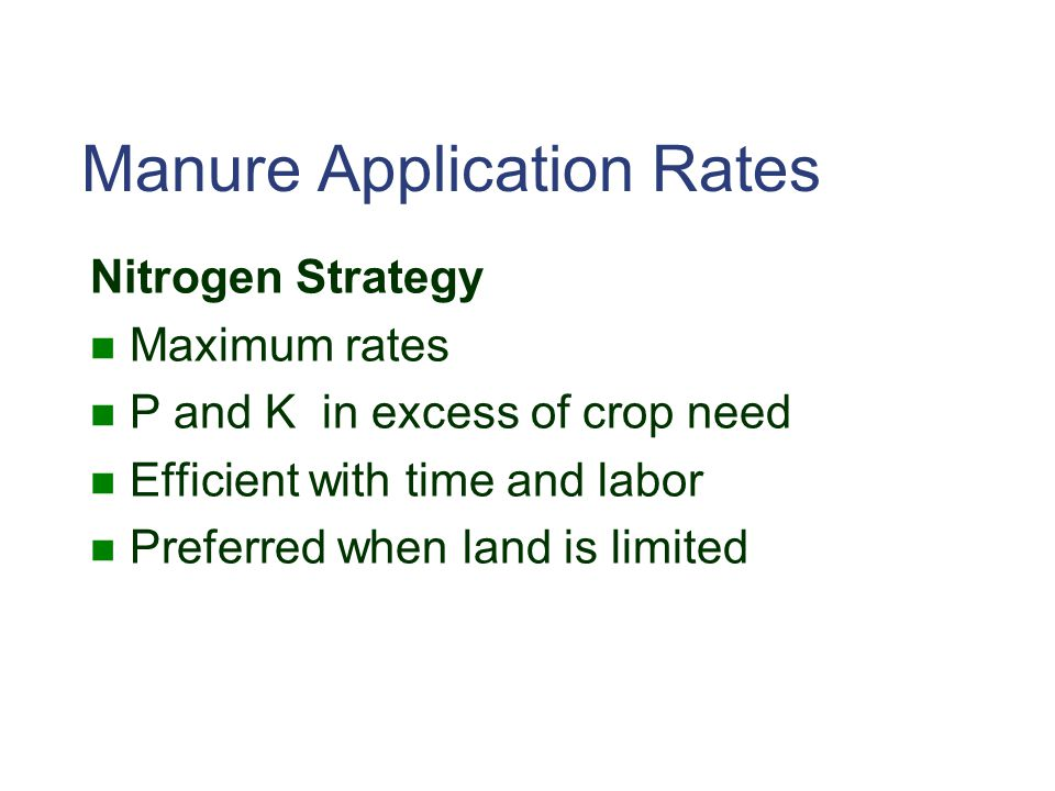 Manure Application Rates