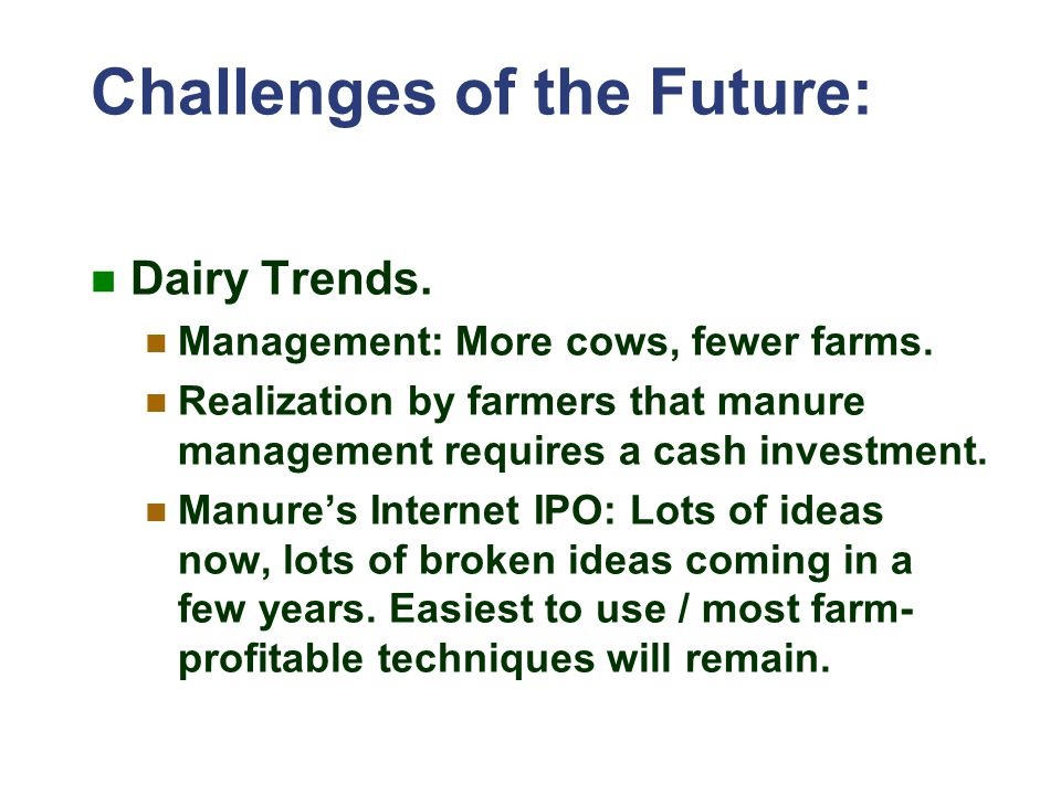 Challenges of the Future: