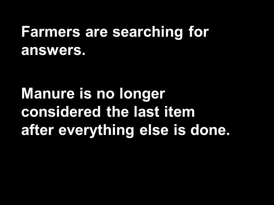 Farmers are searching for answers.
