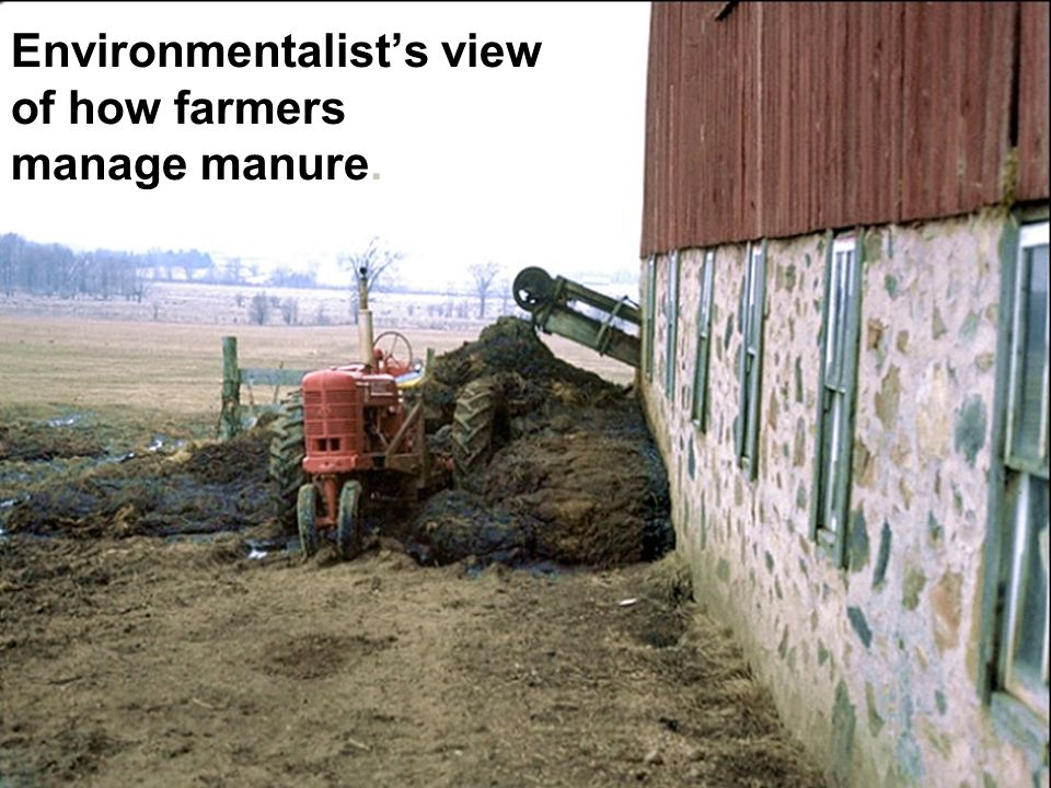 Environmentalist's view of how farmers manage manure.