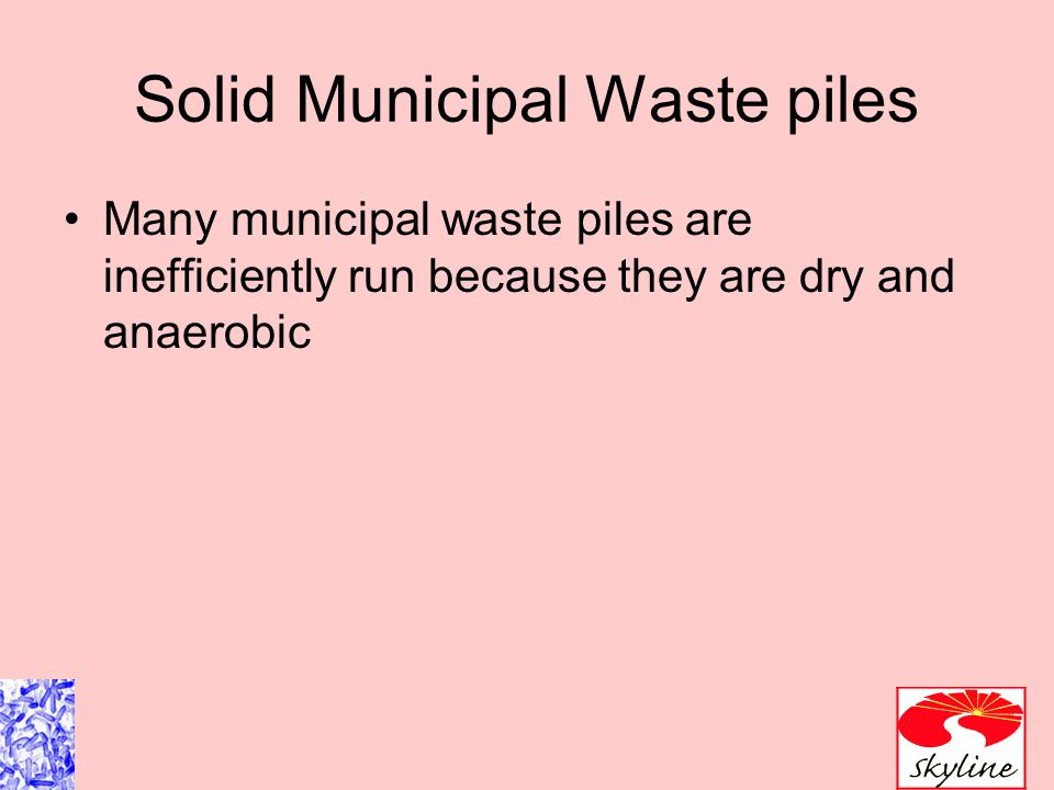Solid Municipal Waste piles