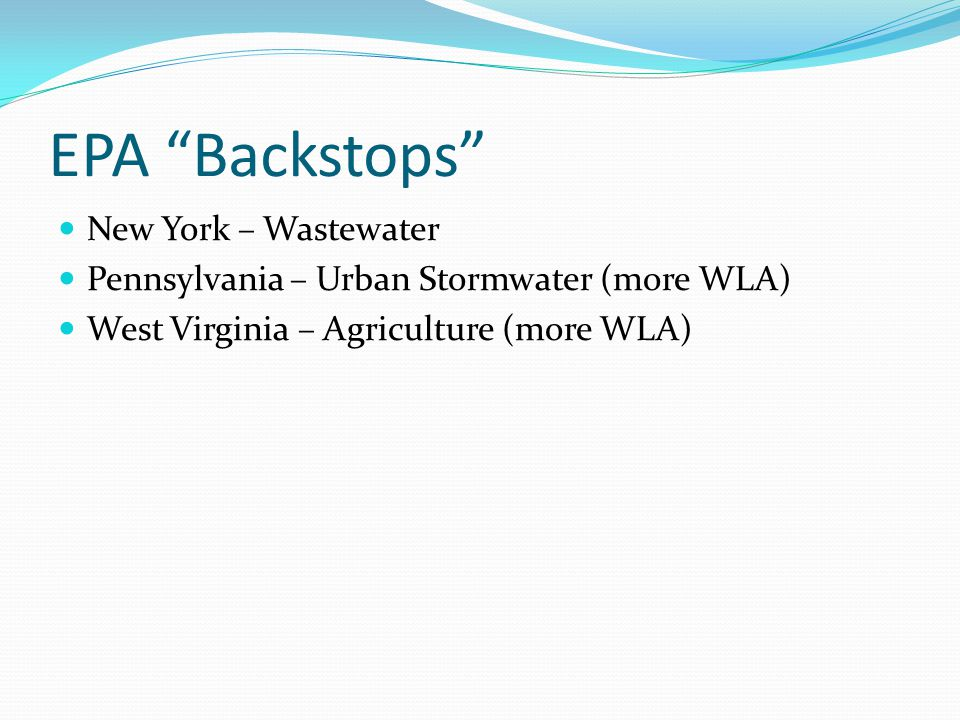 EPA Backstops New York – Wastewater