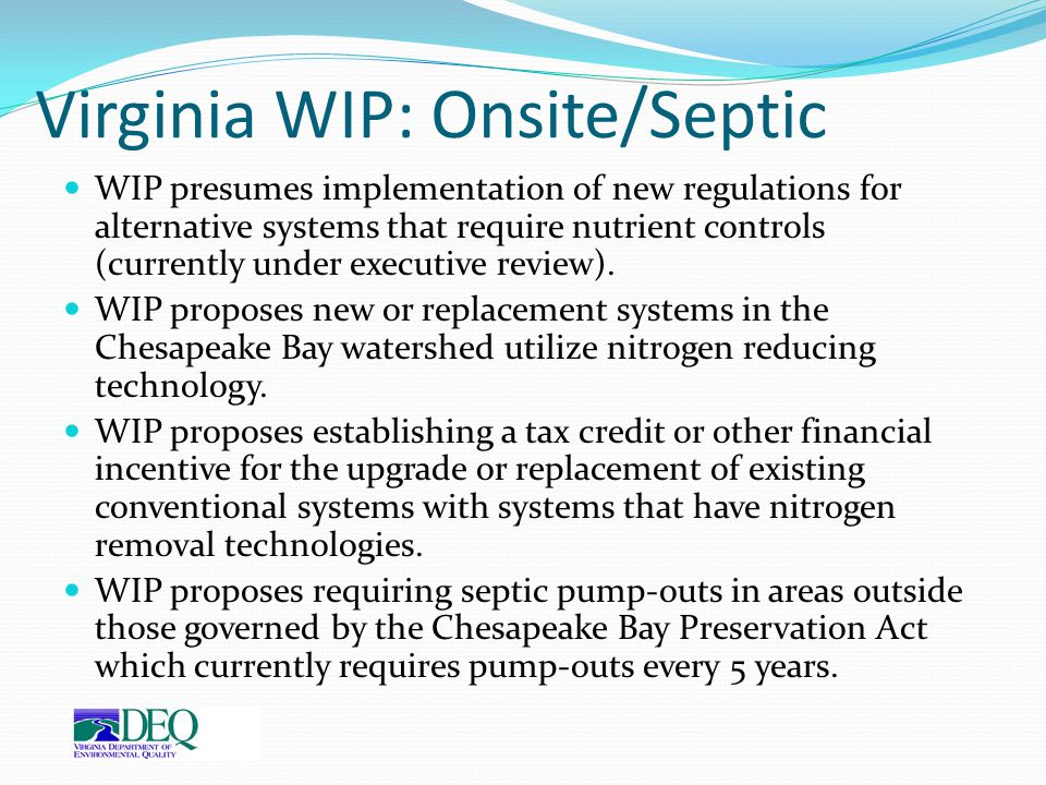 Virginia WIP: Onsite/Septic
