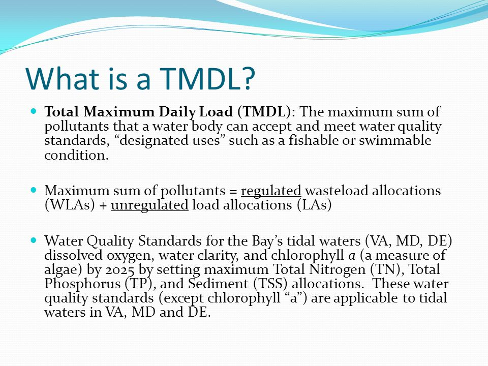 What is a TMDL