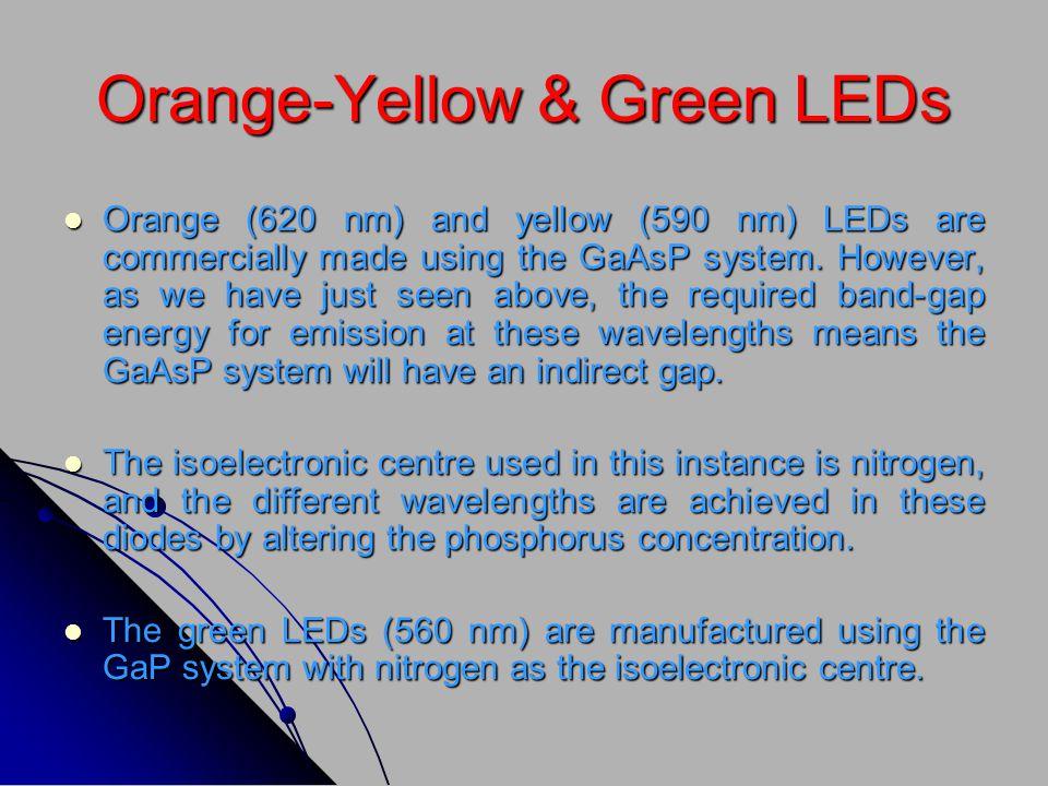 Orange-Yellow & Green LEDs