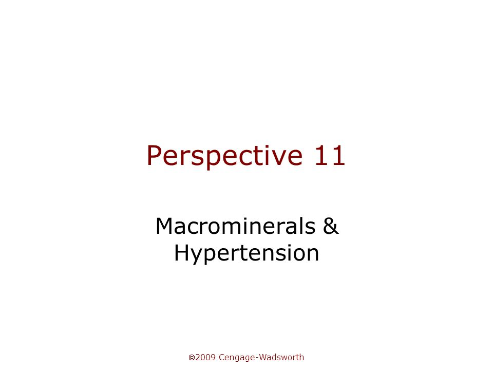 Macrominerals & Hypertension