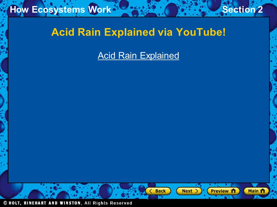 Acid Rain Explained via YouTube!