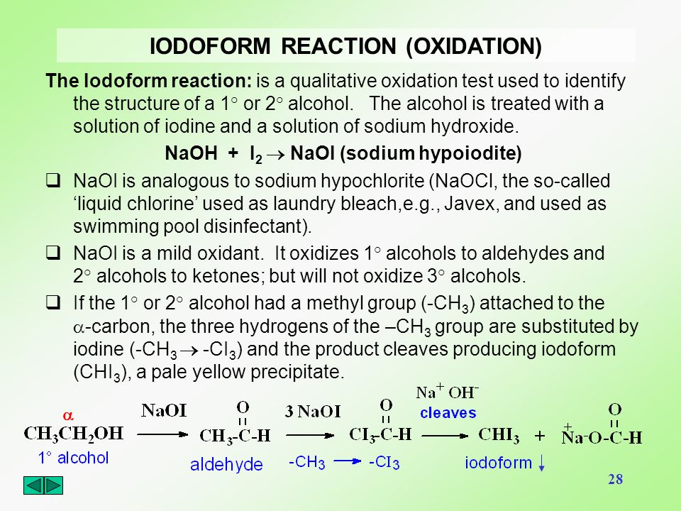 IODOFORM REACTION (OXIDATION)