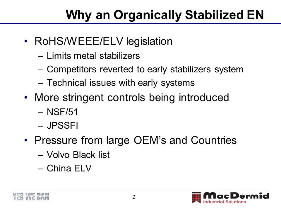 Why an Organically Stabilized EN