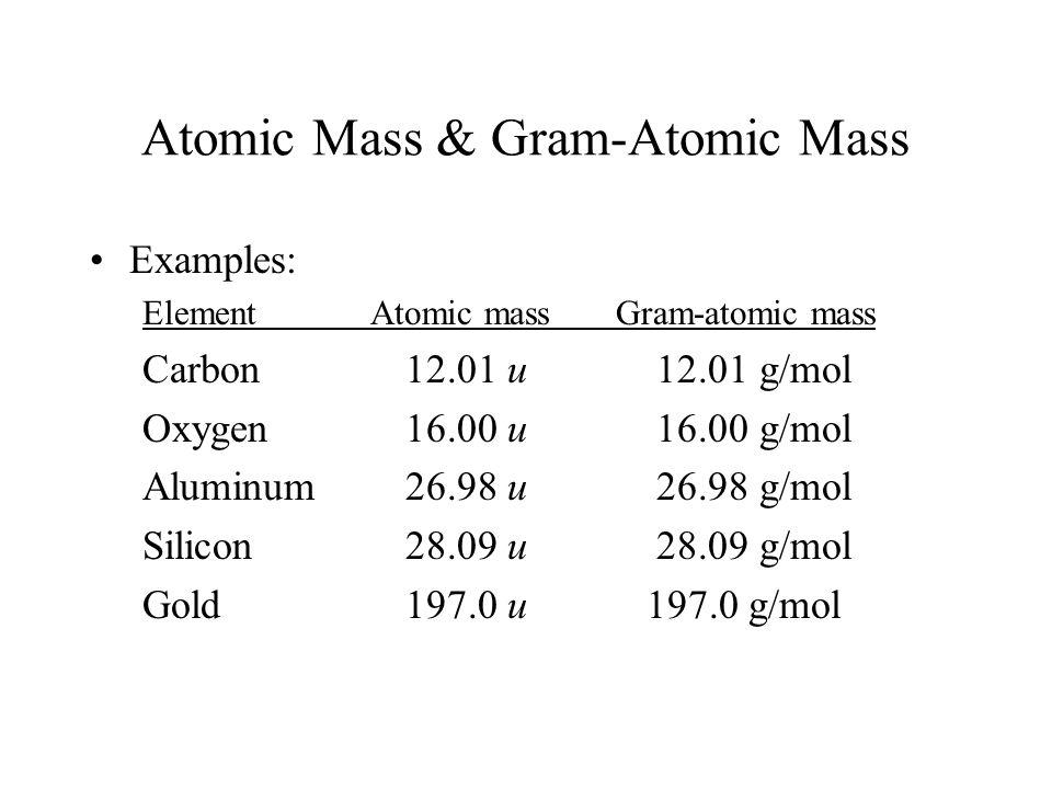 Atomic Mass & Gram-Atomic Mass