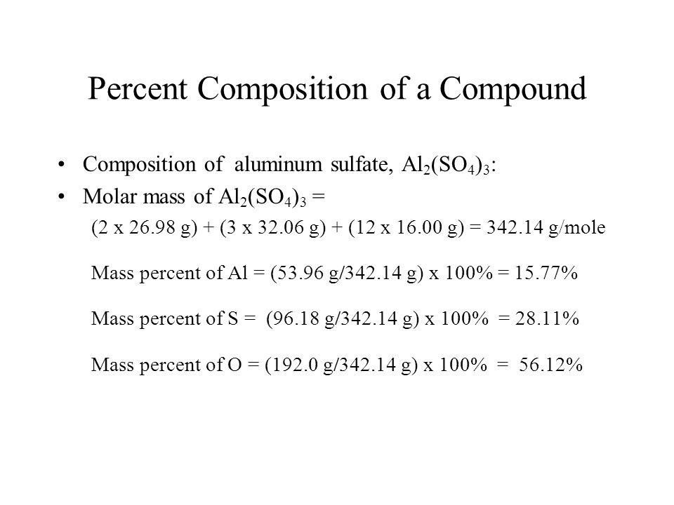Percent Composition of a Compound