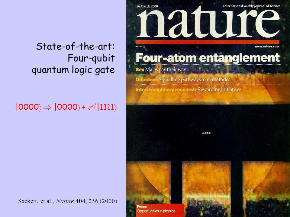 State-of-the-art: Four-qubit quantum logic gate