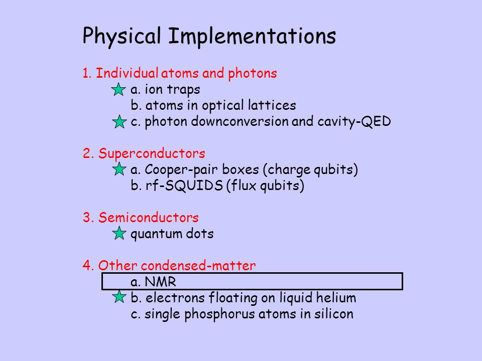 Physical Implementations