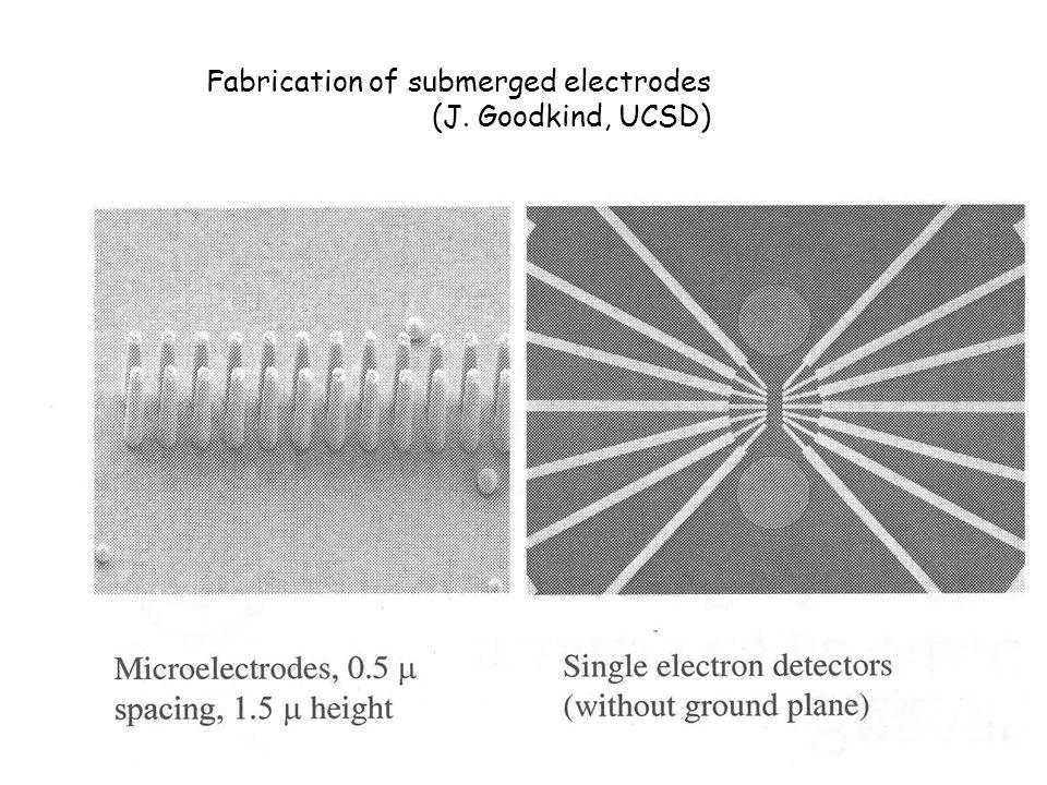 Fabrication of submerged electrodes