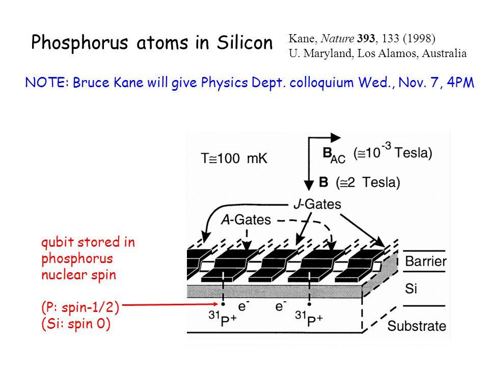 Phosphorus atoms in Silicon
