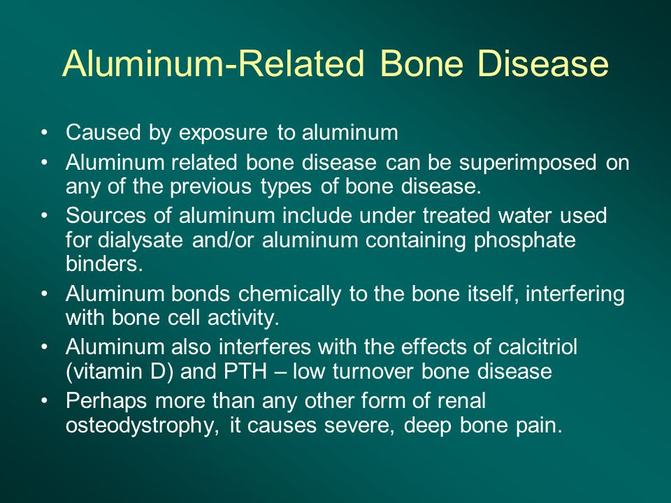 Aluminum-Related Bone Disease