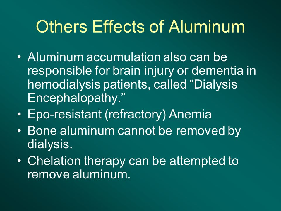 Others Effects of Aluminum