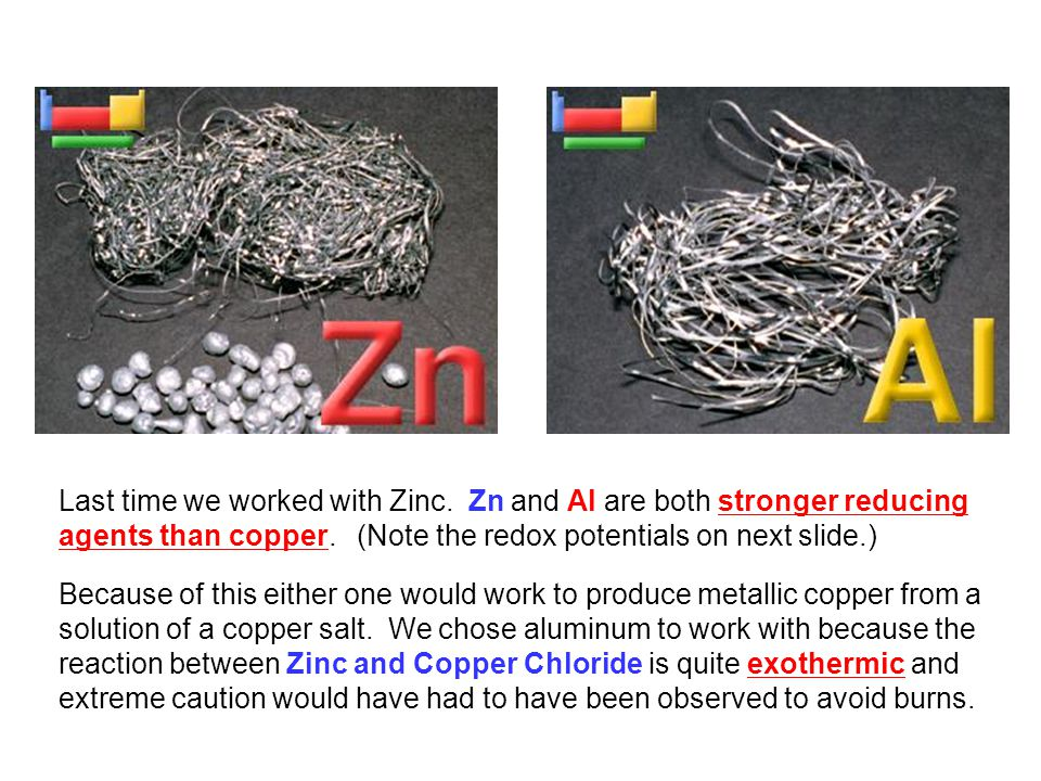 Last time we worked with Zinc