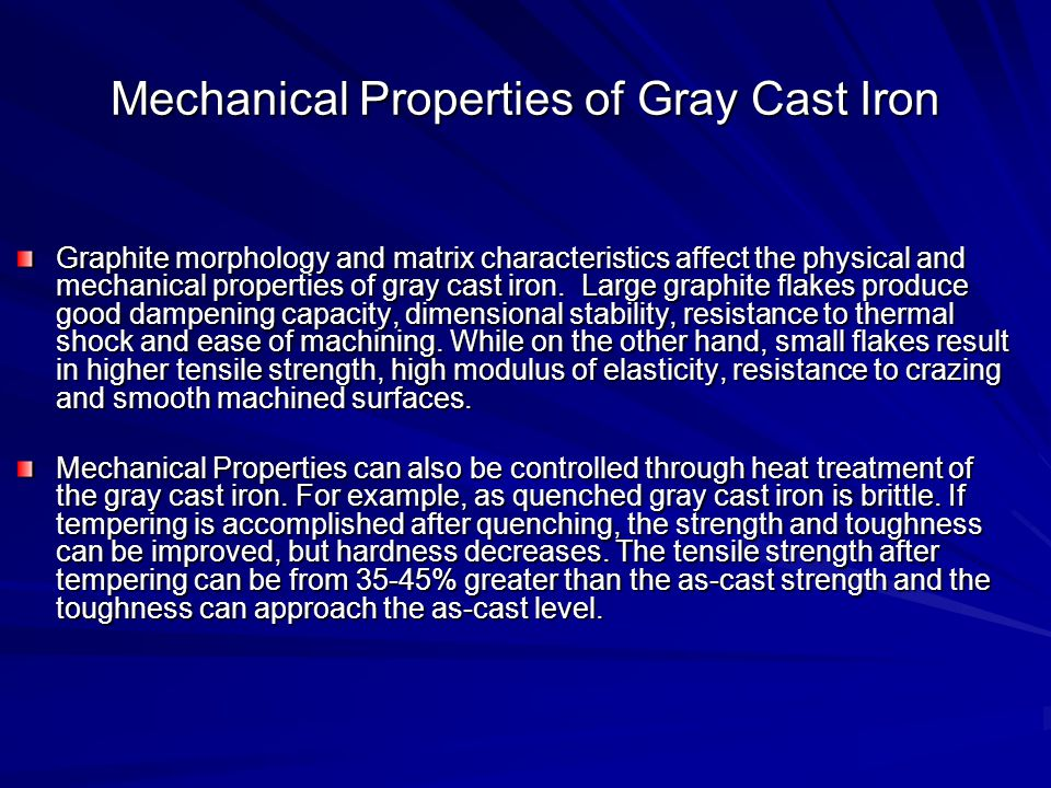 Mechanical Properties of Gray Cast Iron