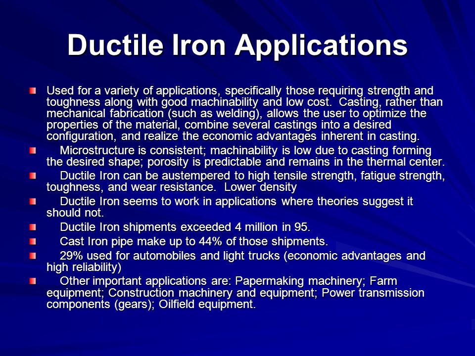 Ductile Iron Applications