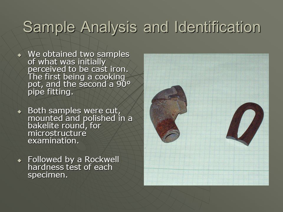 Sample Analysis and Identification