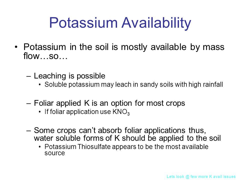 Potassium Availability