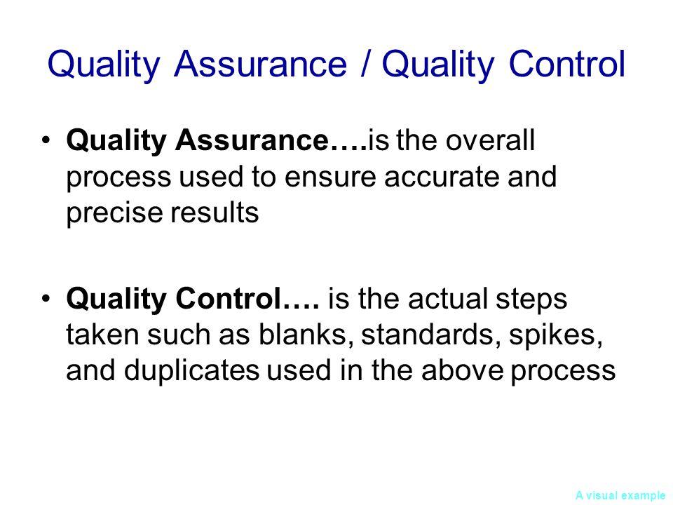 Quality Assurance / Quality Control