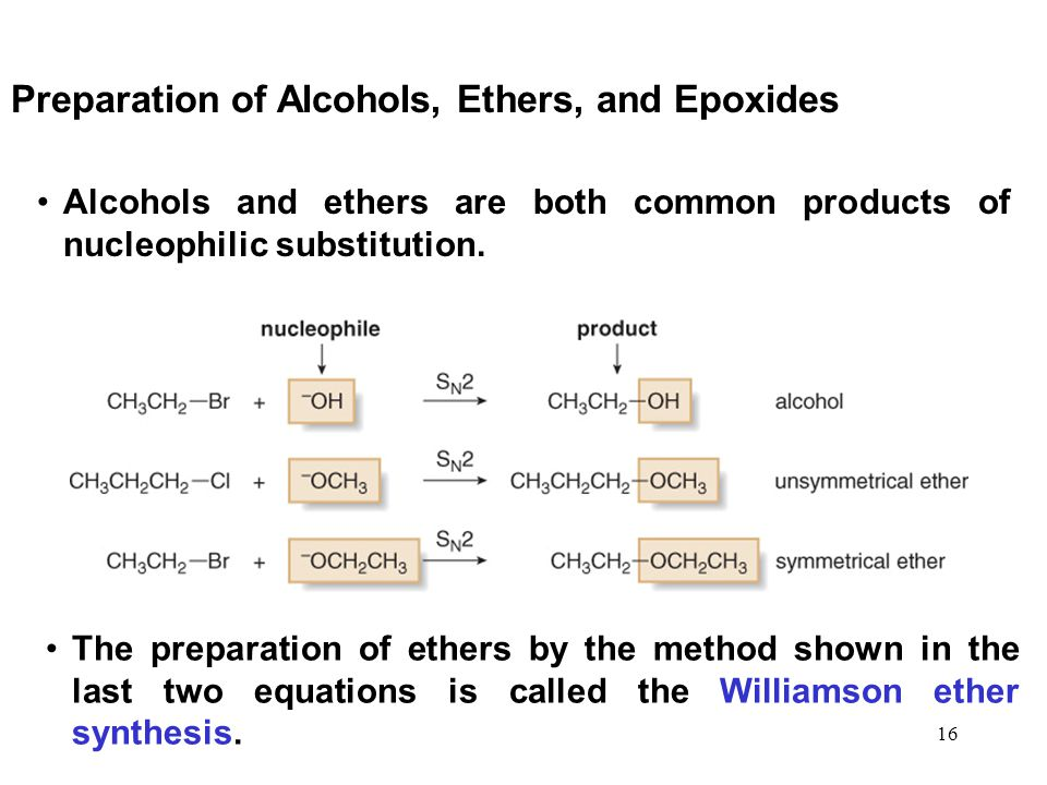 Preparation of Alcohols, Ethers, and Epoxides