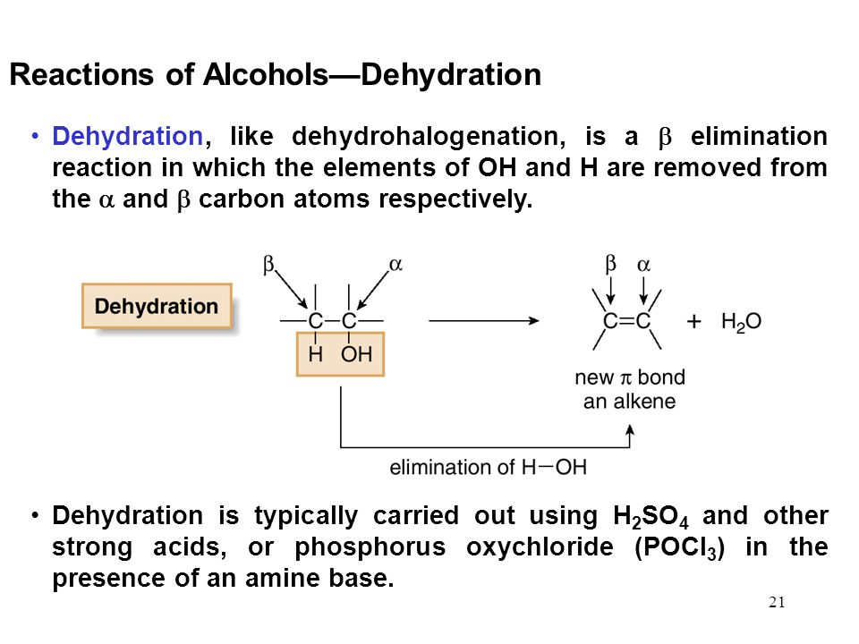 Reactions of Alcohols—Dehydration