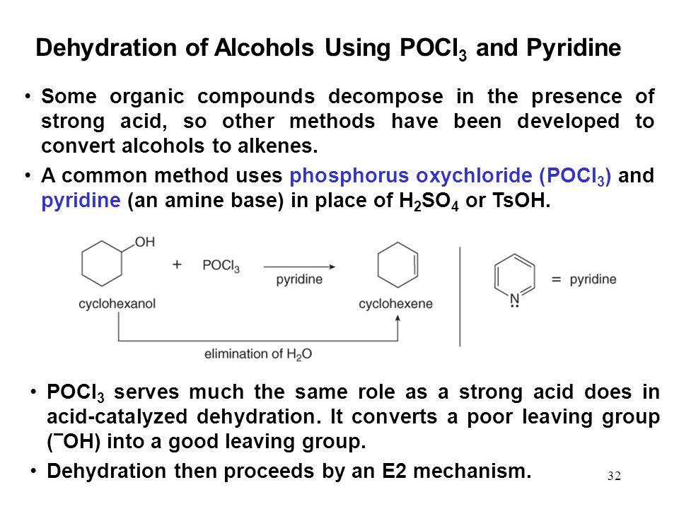 Dehydration of Alcohols Using POCl3 and Pyridine