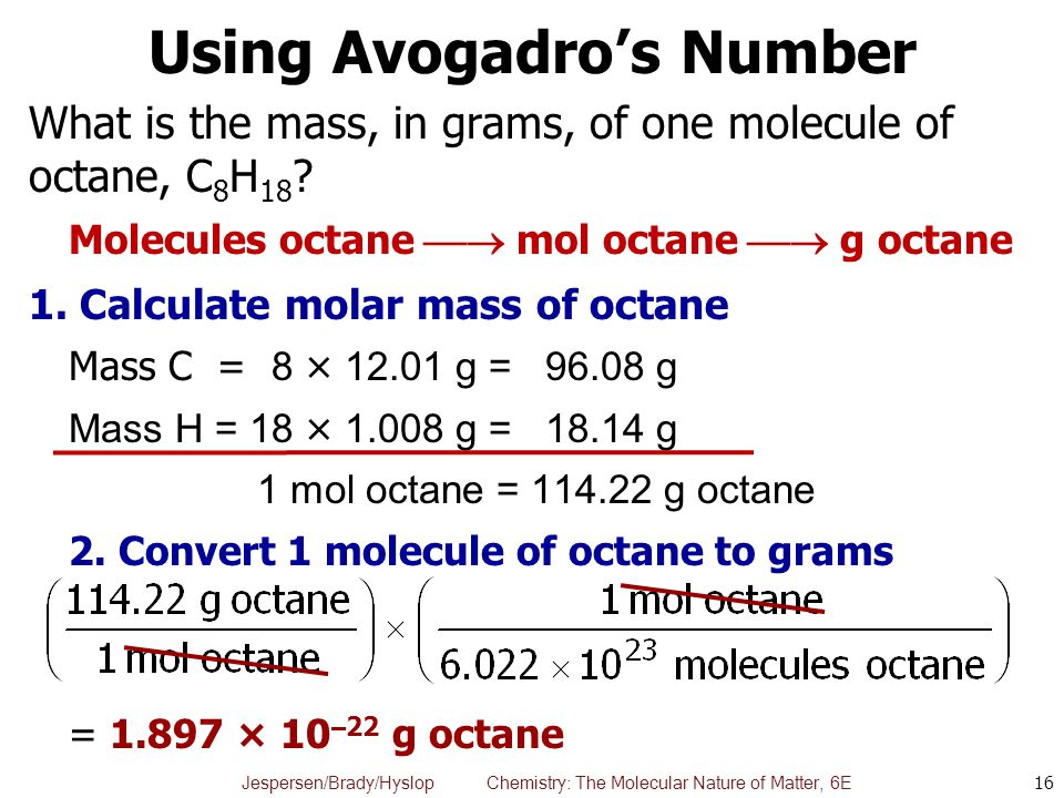 Using Avogadro's Number