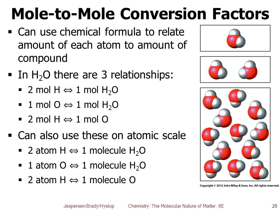Mole-to-Mole Conversion Factors