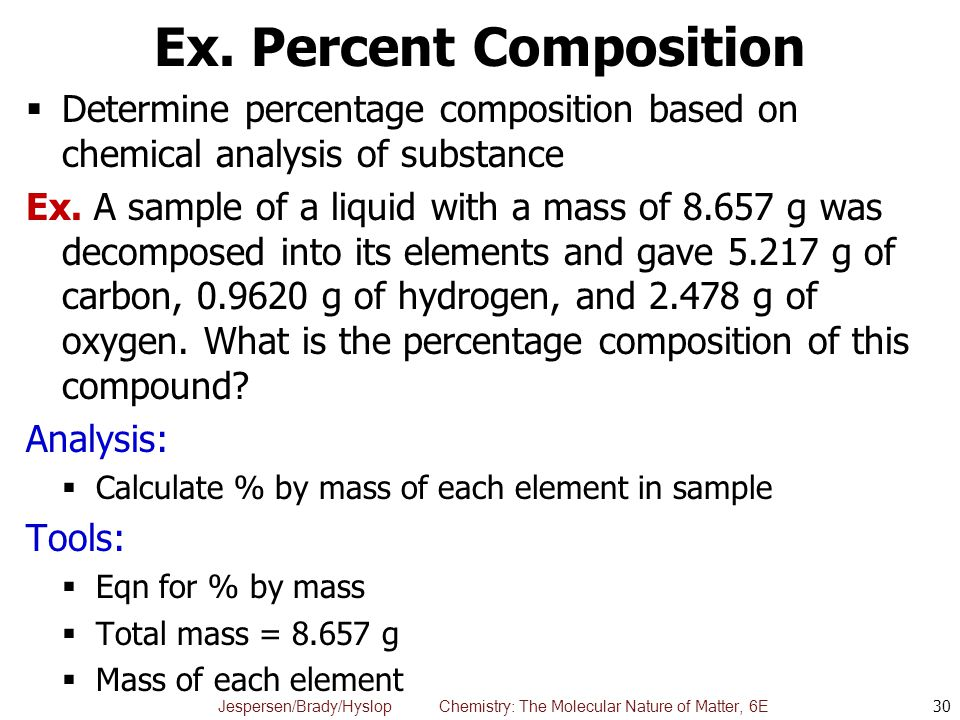 Ex. Percent Composition