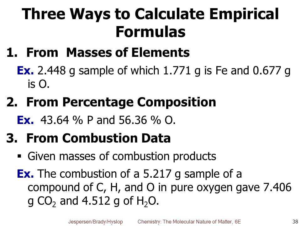 Three Ways to Calculate Empirical Formulas