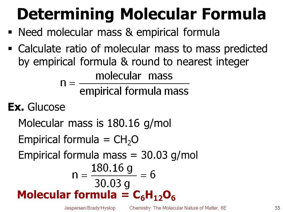 Determining Molecular Formula