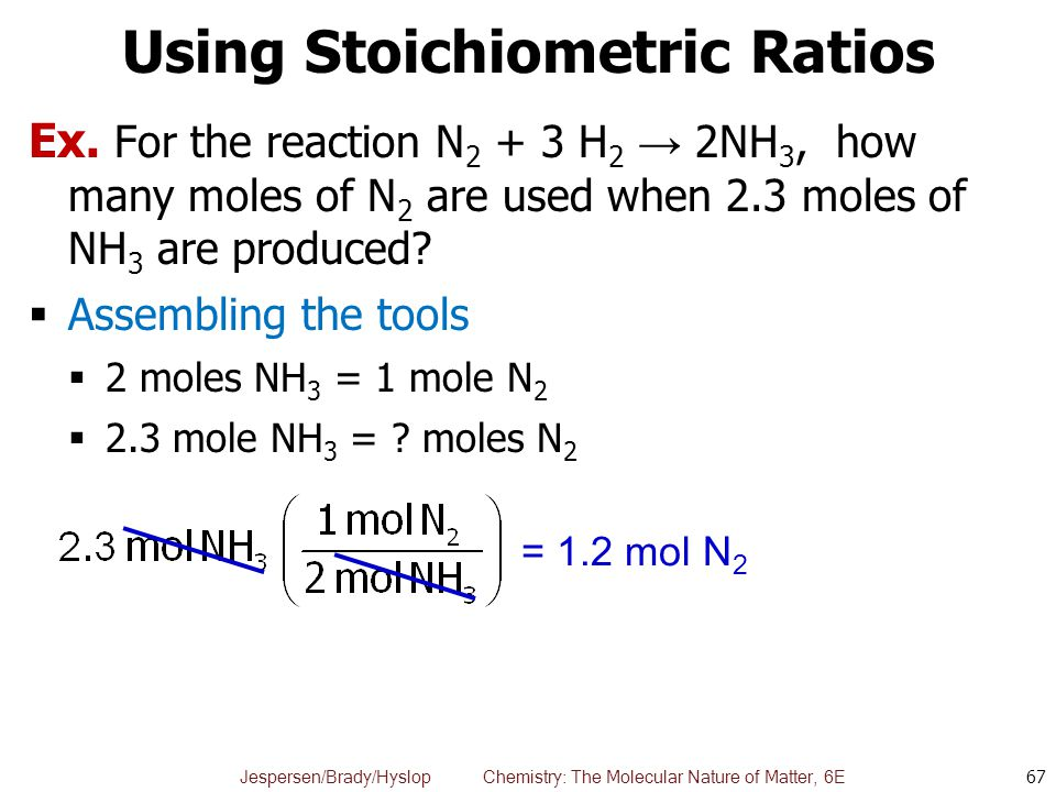 Using Stoichiometric Ratios