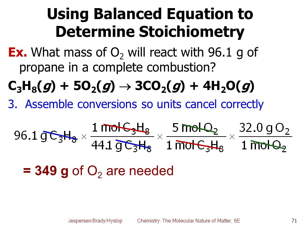 Using Balanced Equation to Determine Stoichiometry
