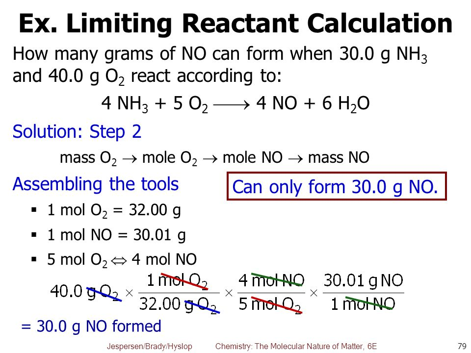 Ex. Limiting Reactant Calculation