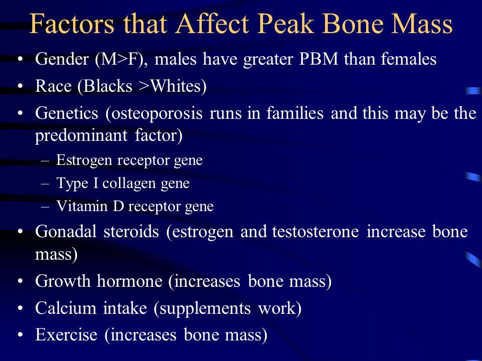 Factors that Affect Peak Bone Mass