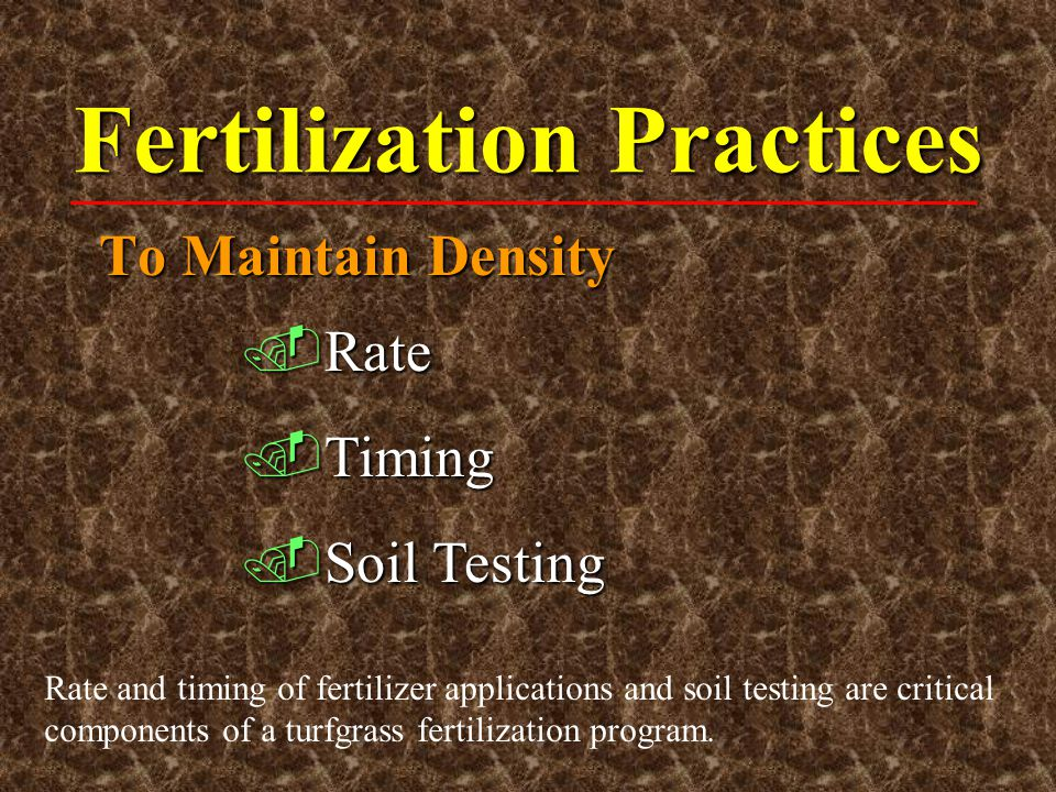 Fertilization Practices